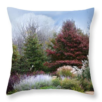 A Time For Giving Thanks Throw Pillow by Lena Wilhite