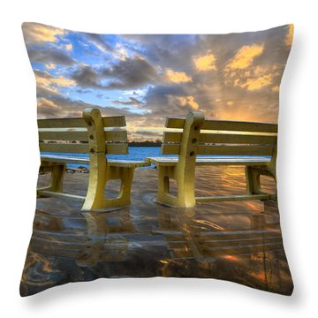 A Time For Reflection Throw Pillow by Debra and Dave Vanderlaan