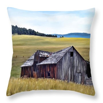 A Time In Montana Throw Pillow