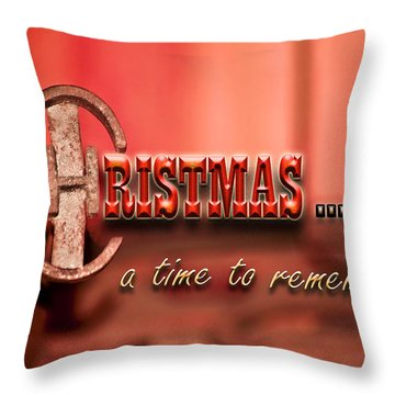 A Time To Remember Throw Pillow by Carolyn Marshall