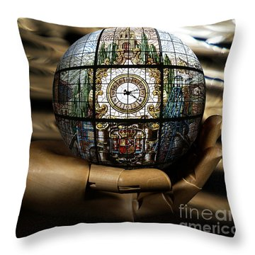 A Times Droplet Meditation Throw Pillow