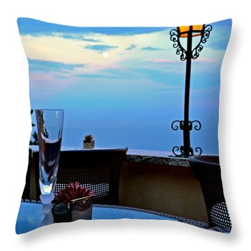 A Toast Throw Pillow by Corinne Rhode