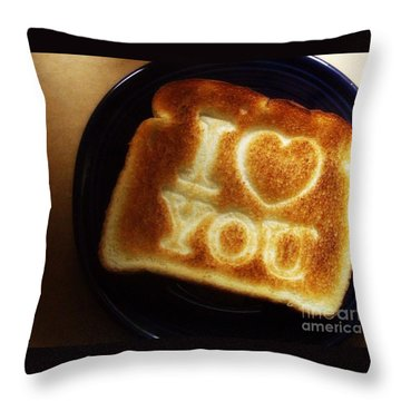 Throw Pillow featuring the photograph A Toast To My Love by Kristine Nora