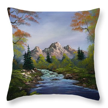 A Touch Of Autumn Throw Pillow by C Steele