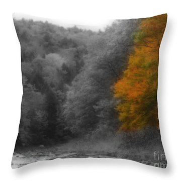 A Touch Of Autumn Colors Throw Pillow by Smilin Eyes  Treasures