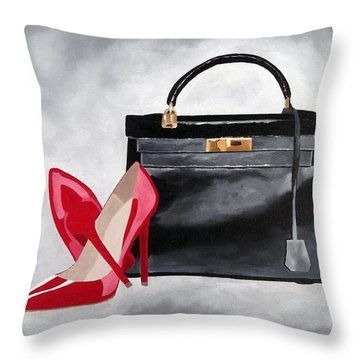A Touch Of Class Throw Pillow by Rebecca Jenkins