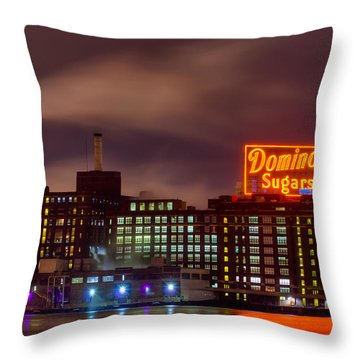 Throw Pillow featuring the photograph A Touch Of Color With A Wisp Of Smoke by Dennis Dame