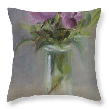 A Touch Of Elegance Throw Pillow by Debbie Lamey-MacDonald