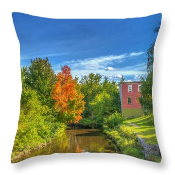 A Touch Of Fall Throw Pillow by Ken Morris