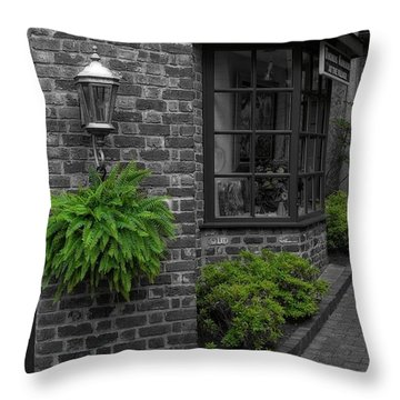 A Touch Of Green In The City Throw Pillow by Dan Sproul