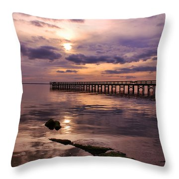 Throw Pillow featuring the photograph A Touch Of Orange At Sunset by Ola Allen