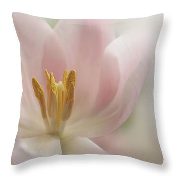 A Touch Of Pink Throw Pillow by Annie Snel