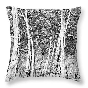 A Touch Of Red Throw Pillow by Liane Wright