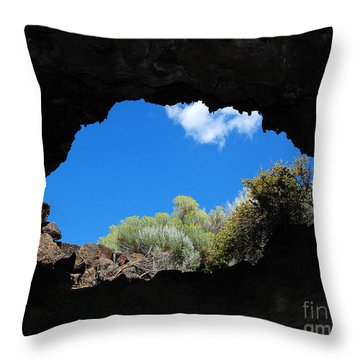 Throw Pillow featuring the photograph A Touch Of Sky by Debra Thompson