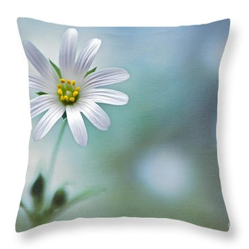 A Touch Of White Throw Pillow by Jacky Parker