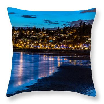 A Town Called White Rock - By Sabine Edrissi Throw Pillow