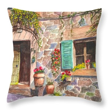 A Townhouse In Majorca Spain Throw Pillow