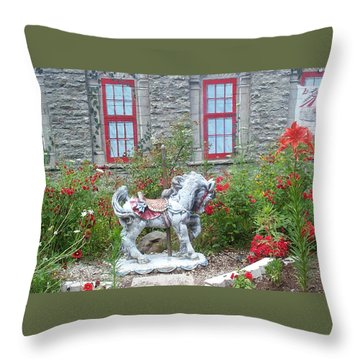 A Treasure In A Garden Throw Pillow by Barbara McDevitt