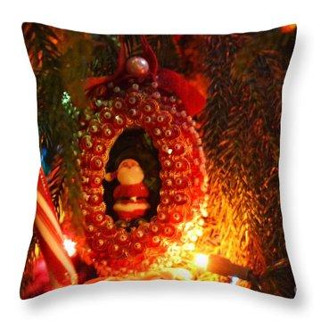A Treasured Santa Throw Pillow