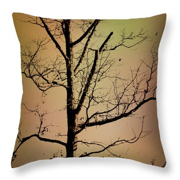 A Tree By The Lake Throw Pillow