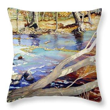 A Tree Falls Throw Pillow
