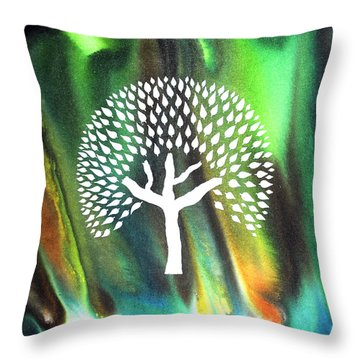 A Tree I Dreamt Of  Throw Pillow by Sumit Mehndiratta
