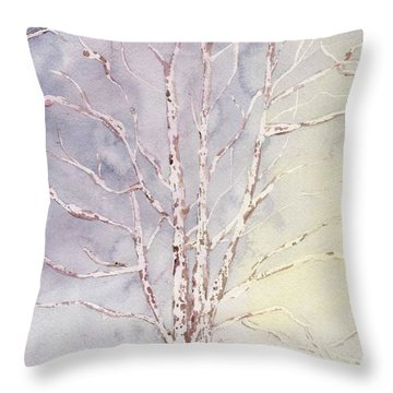 A Tree In Winter Throw Pillow