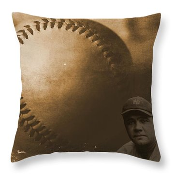 A Tribute To Babe Ruth And Baseball Throw Pillow by Dan Sproul