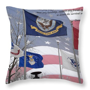 A Tribute To Our Freedom Throw Pillow