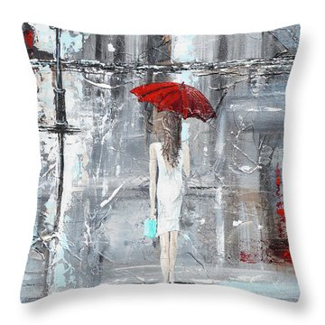 Shopping Bags Throw Pillows