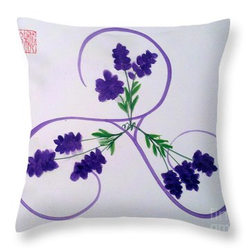 A Triskele Of Lavender Throw Pillow
