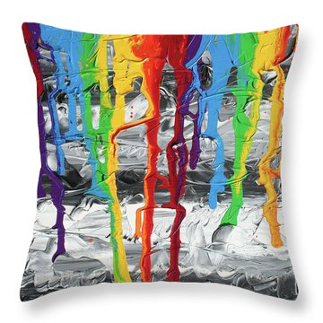 A Triumph Of Color Throw Pillow