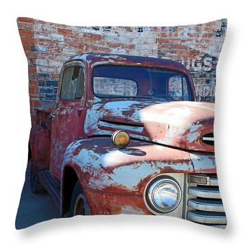 A Truck In Goodland Throw Pillow