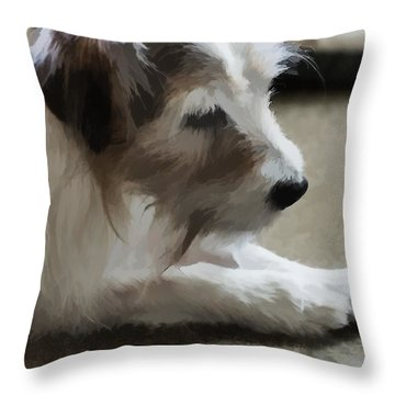 A True Friend Throw Pillow by Ron Harpham