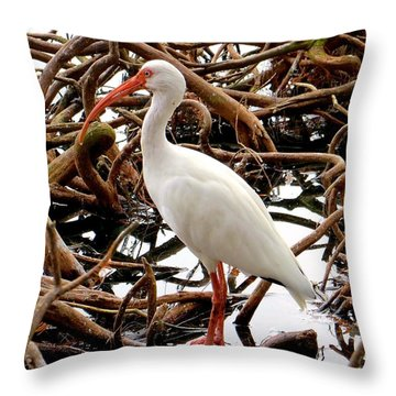 A Twisted Place To Rest Throw Pillow by Rita Mueller