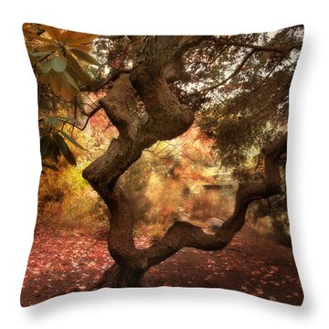 A Twisted Tree Throw Pillow