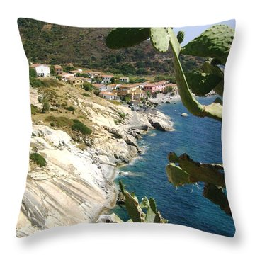A Typical Bay Of Elba Island Throw Pillow by Giuseppe Epifani