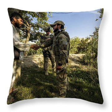 A U.s. Air Force Master Sergeant Throw Pillow by Stocktrek Images