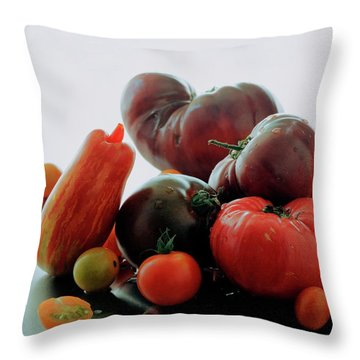 A Variety Of Vegetables Throw Pillow
