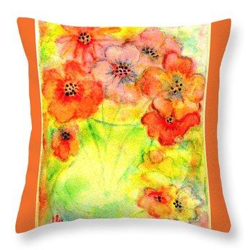 A Vaseful Of Sunshine Throw Pillow by Hazel Holland