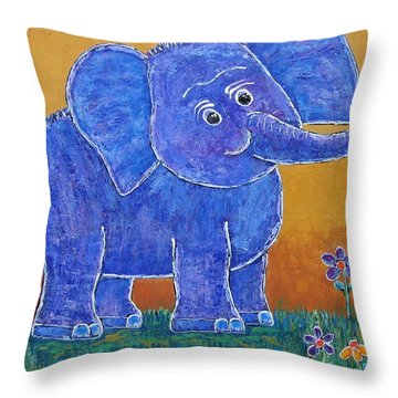 A Very Happy Day Throw Pillow by Suzanne Theis