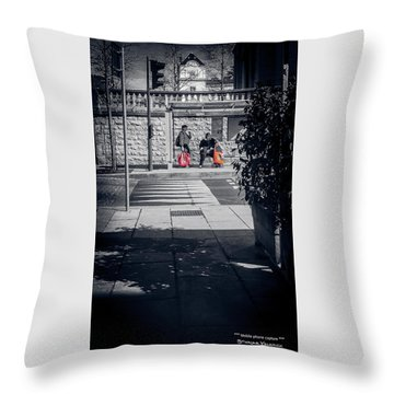 Throw Pillow featuring the photograph A Very Long Waiting Day by Stwayne Keubrick
