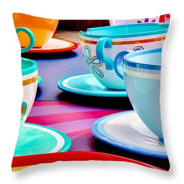 Throw Pillow featuring the photograph A Very Merry Unbirthday by Benjamin Yeager
