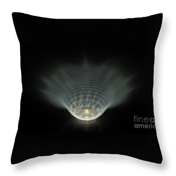 A Vibrant Candle Throw Pillow by Peter R Nicholls