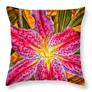 A Vibrant Lily For Your Decor Throw Pillow by Thomas Woolworth