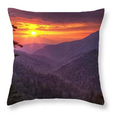 A View At Sunset Throw Pillow