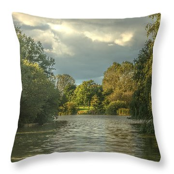 A View Down The Lake Throw Pillow