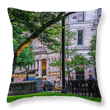 A View From Central Park Throw Pillow by Mary Carol Story