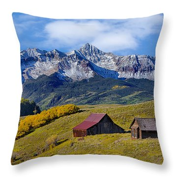 A View From Last Dollar Road Throw Pillow