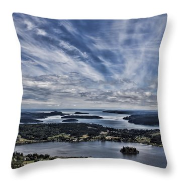 A View From Mt. Erie Throw Pillow